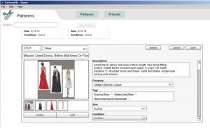 PatternFile sewing pattern editing screenshot